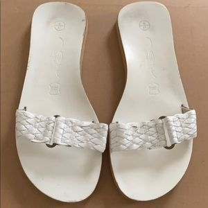 White leather sandals (size 6)